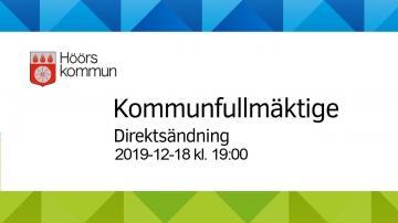 Höörs kommunfullmäktige, 18 december 2019