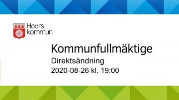 Höörs kommunfullmäktige, 26 augusti 2020