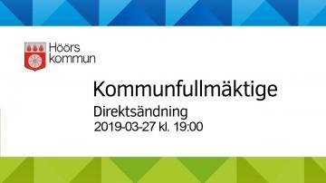 Höörs kommunfullmäktige, 27 mars 2019