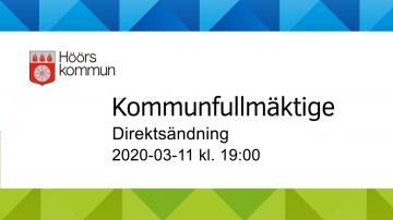 Höörs kommunfullmäktige, 11 mars 2020