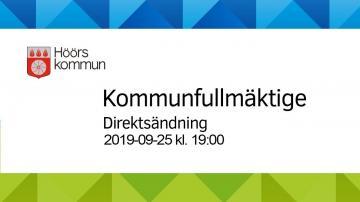 Höörs kommunfullmäktige, 25 september 2019